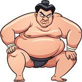 Sumo wrestlers eat one big meal a day.